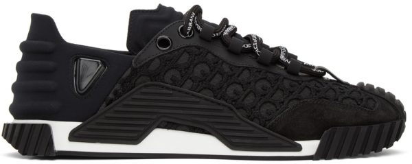 Dolce & Gabbana Black Lace NS1 Sneakers
