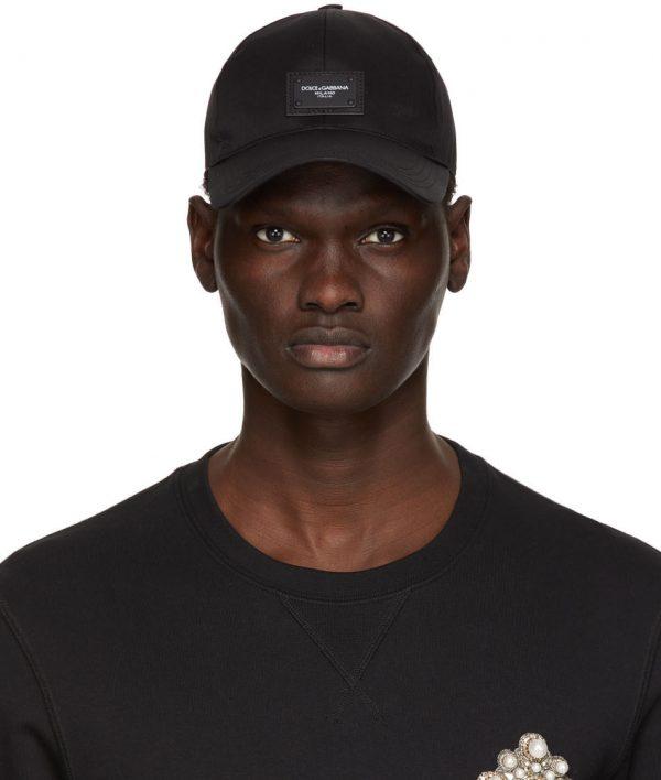 Dolce & Gabbana Black Logo Patch Cap