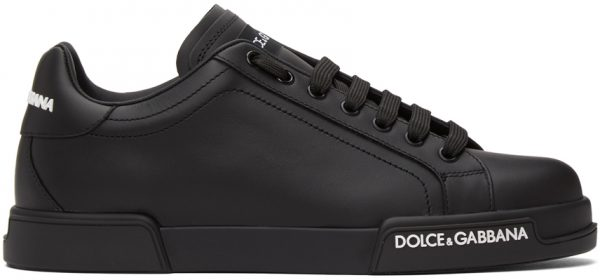Dolce & Gabbana Black Low-Top Sneakers