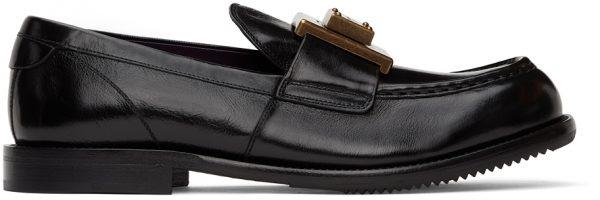 Dolce & Gabbana Black Mino Loafers