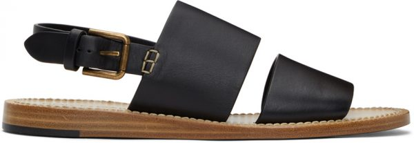 Dolce & Gabbana Black Pantheon Sandals
