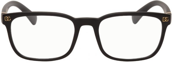 Dolce & Gabbana Black Rectangular Optical Glasses