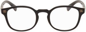 Dolce & Gabbana Black Round Optical Glasses