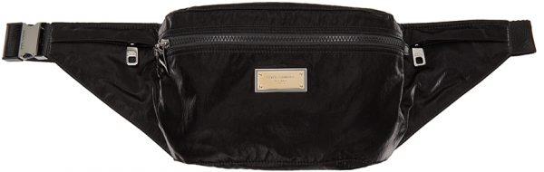 Dolce & Gabbana Black Sicilia DNA Nylon Belt Bag