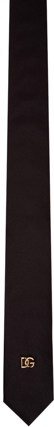 Dolce & Gabbana Black Silk DNA Tie