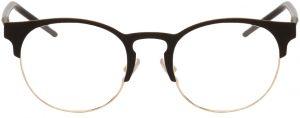 Dolce & Gabbana Black & Gold Round Glasses