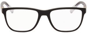 Dolce & Gabbana Black & Transparent Rectangular Glasses