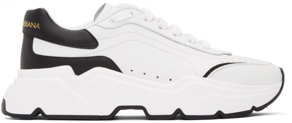 Dolce & Gabbana Black & White Daymaster Low Sneakers