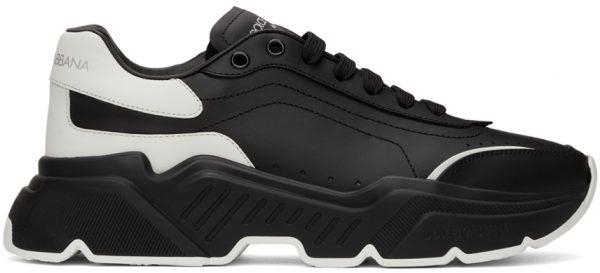 Dolce & Gabbana Black & White Daymaster Sneakers