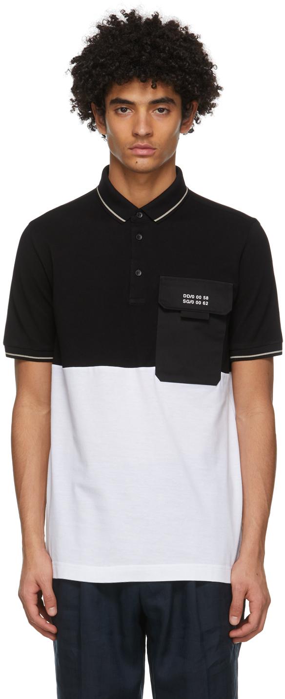 Dolce & Gabbana Black & White Jersey Polo