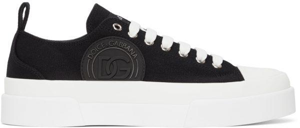 Dolce & Gabbana Black & White Portofino Light Sneakers