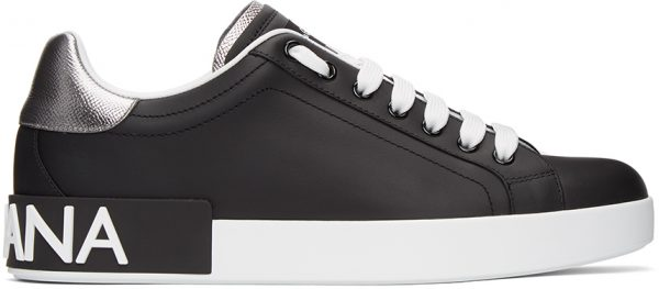 Dolce & Gabbana Black & White Portofino Sneakers
