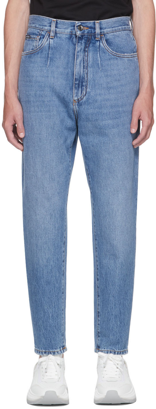 Dolce & Gabbana Blue Tapered Jeans