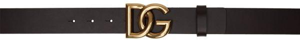 Dolce & Gabbana Brown & Gold Crossed 'DG' Lux Belt