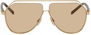 Dolce & Gabbana Gold Aviator Sunglasses