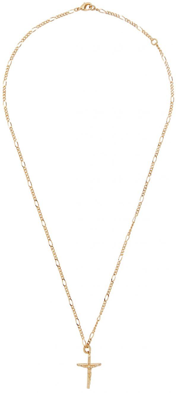 Dolce & Gabbana Gold Cross Pendant Necklace