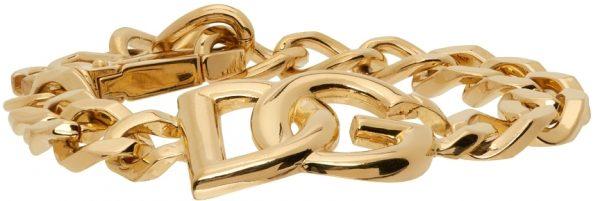Dolce & Gabbana Gold Logo Chain Bracelet