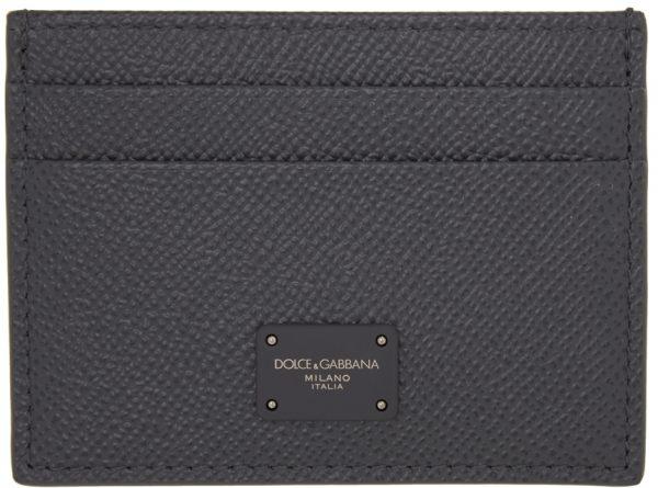 Dolce & Gabbana Grey Dauphine Credit Card Holder