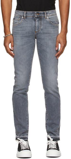 Dolce & Gabbana Grey Skinny Jeans