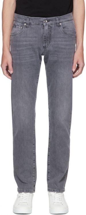 Dolce & Gabbana Grey Slim Jeans