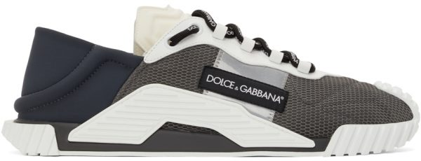 Dolce & Gabbana Grey & White NS1 Sneakers