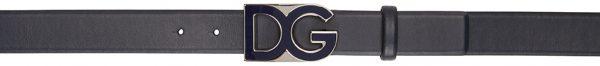 Dolce & Gabbana Navy Logo Belt
