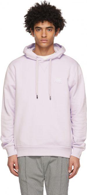Dolce & Gabbana Purple Jersey Branded Tag Hoodie