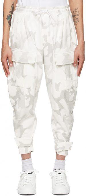 Dolce & Gabbana White Camo Jogging Cargo Pants