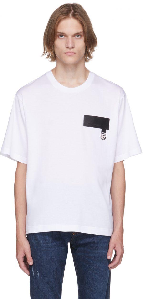 Dolce & Gabbana White DNA Patch T-Shirt