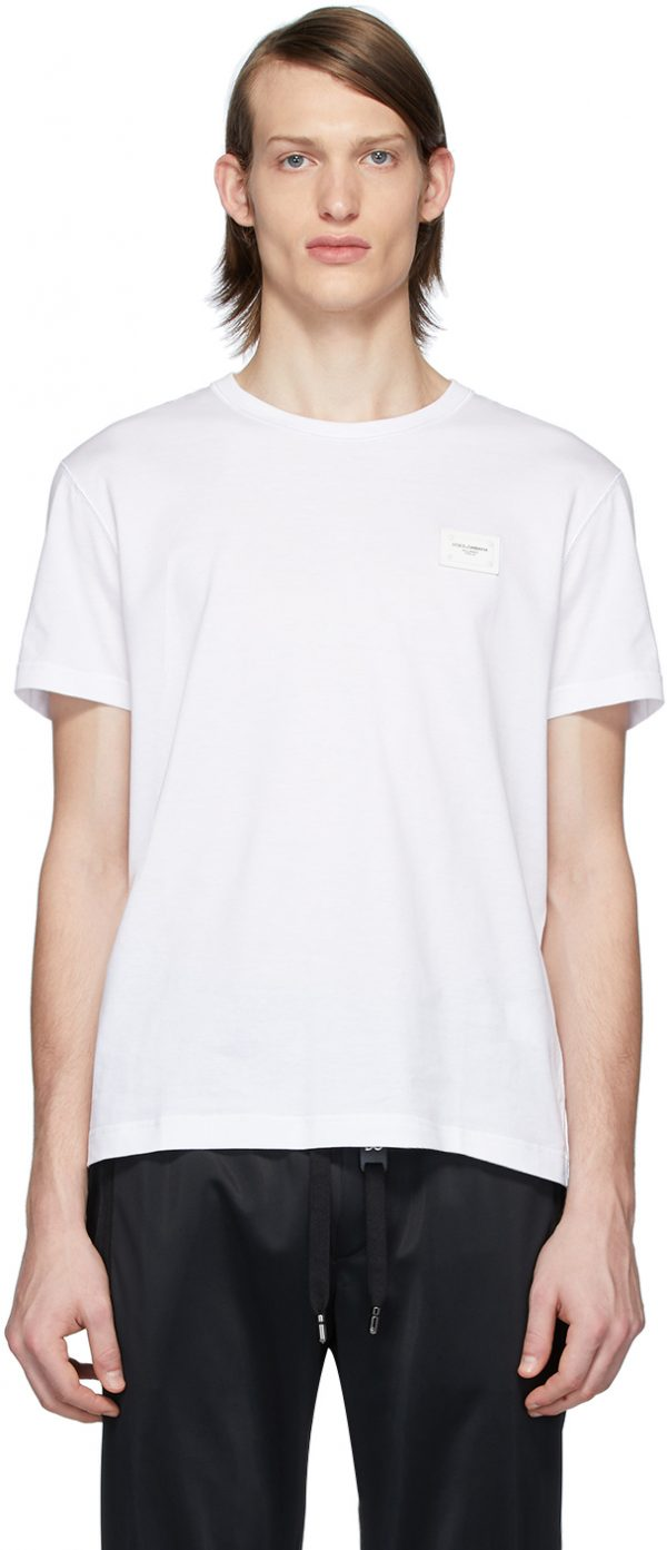 Dolce & Gabbana White Essential Logo Patch T-Shirt