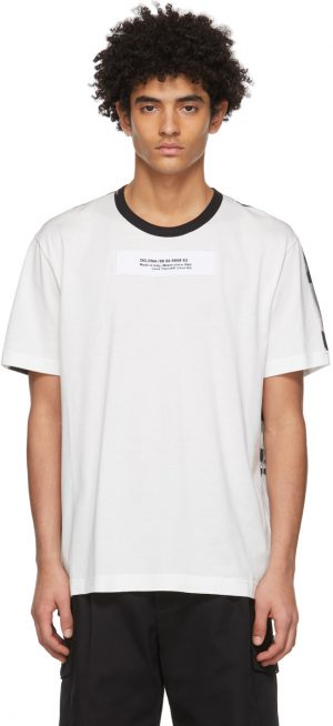 Dolce & Gabbana White Two-Tone Patch T-Shirt