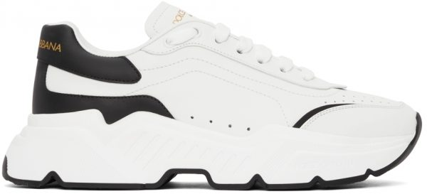 Dolce & Gabbana White & Black Daymaster Sneakers