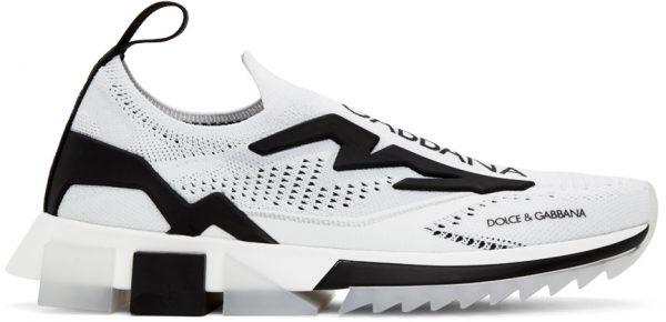 Dolce & Gabbana White & Black Sorrento Sneakers