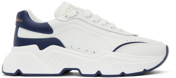 Dolce & Gabbana White & Blue Daymaster Sneakers