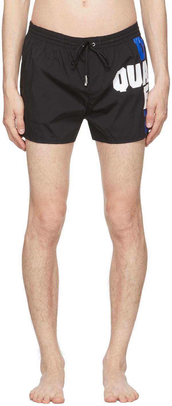 Dsquared2 Black Block Logo Swim Shorts