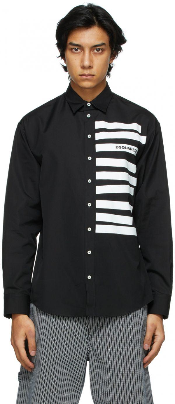 Dsquared2 Black Poplin Classified Shirt