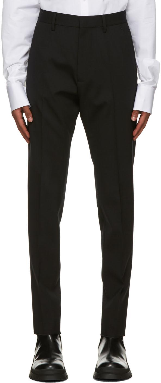 Dsquared2 Black Virgin Wool Hockney Trousers