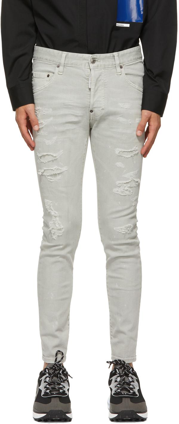 Dsquared2 Grey Trash Super Jeans