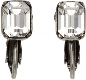 Dsquared2 Silver Crystal Clip-On Earrings