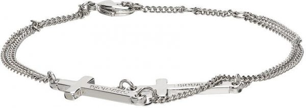 Dsquared2 Silver Double Cross Bracelet