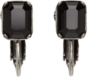 Dsquared2 Silver & Black Crystal Clip-On Earrings