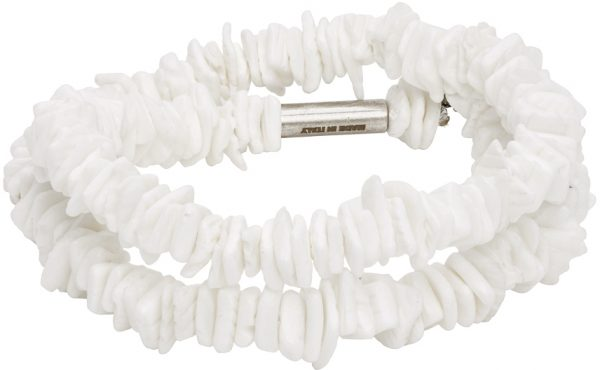 Dsquared2 White Shell Double Wrap Bracelet