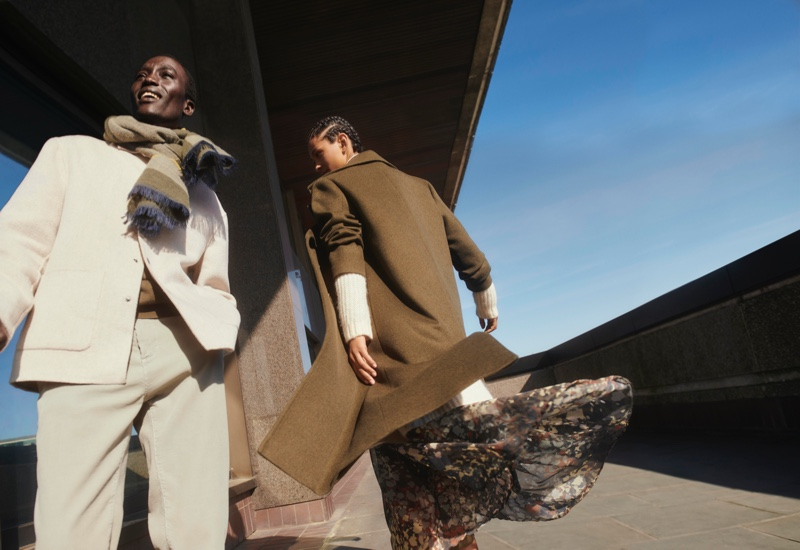 Esprit enlists Dennis Nyero and Rana Oliveira as the stars of its fall-winter 2021 campaign.