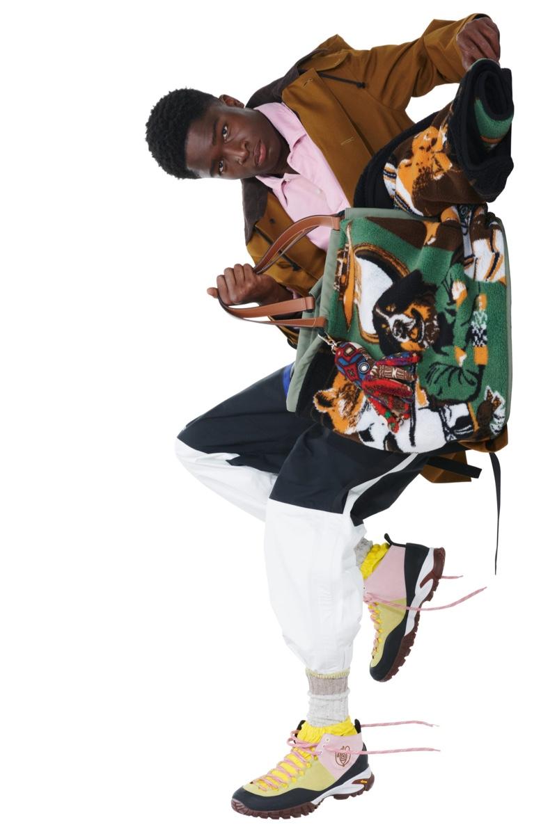 Omar Ayuso & Stephane Bak Front Eye Loewe Nature Campaign