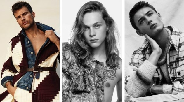 Week in Review: Ryan Cooper for Esquire China, Sonny Charlton for Etro fall-winter 2021 campaign, and João Knorr for L'Officiel Liechtenstein.