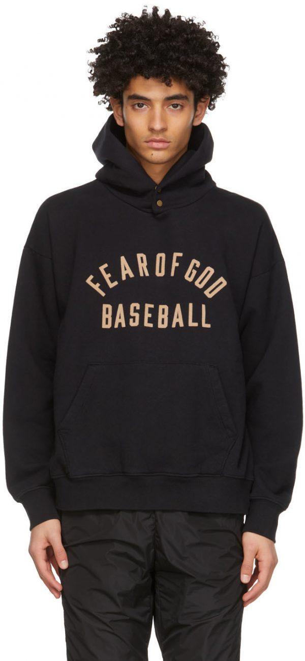 Fear of God Black 'Baseball' Hoodie