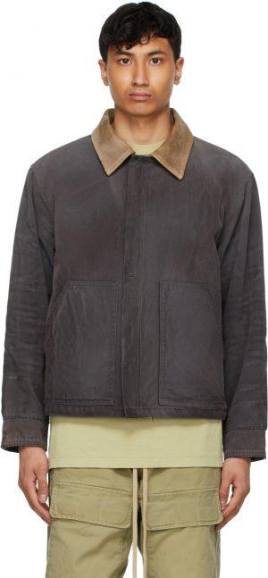 Fear of God Black Canvas Work Jacket