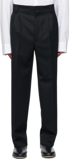 Fear of God Black Wool Double Pleated Trousers