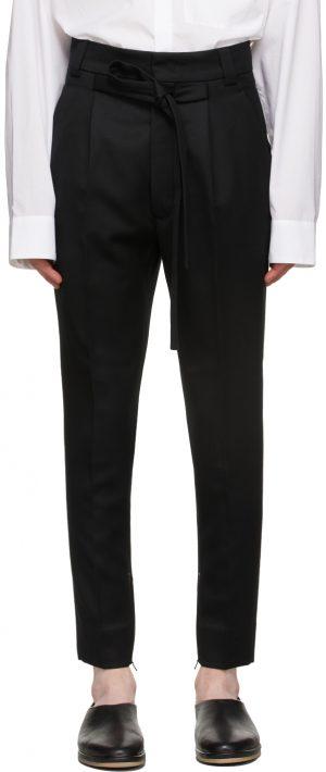 Fear of God Black Wool Slim Trousers