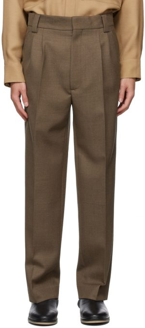 Fear of God Brown Wool Double Pleated Trousers